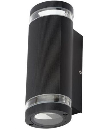 Zinc Helix Up and Down Wall Light | ZN-35594-BLK
