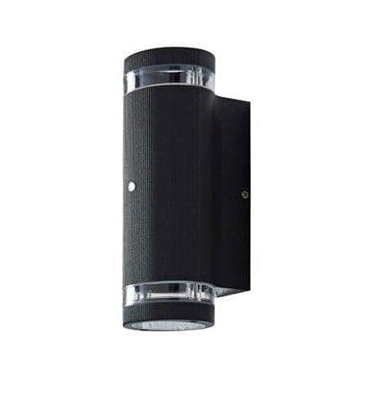 Zinc Helix Photocell Up & Down GU10 Wall Light Black | ZN-35685-BLK