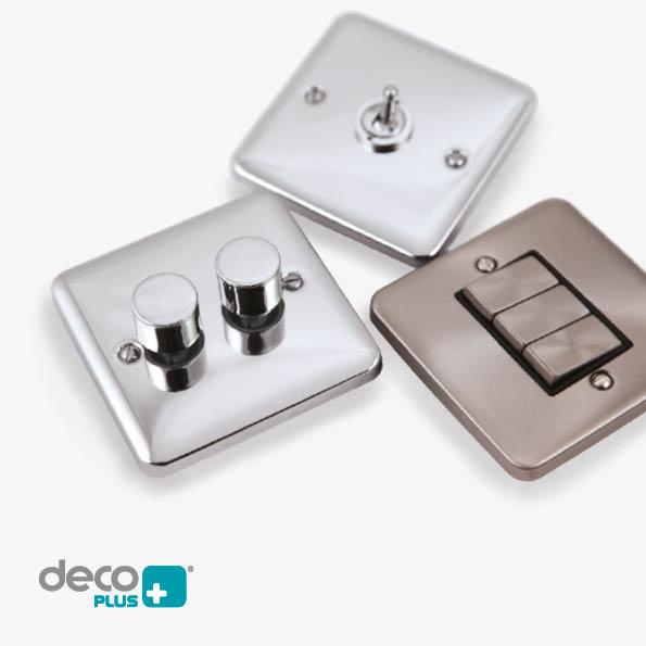A Comprehensive range of premium decorative metal wiring accessories are now available under the Deco Plus brand.