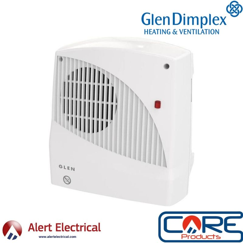The Simple solution for heating your bathroom at a price that cannot be ignored! The Glen 2kW Lot 20 Bathroom Downflow Fan Heater