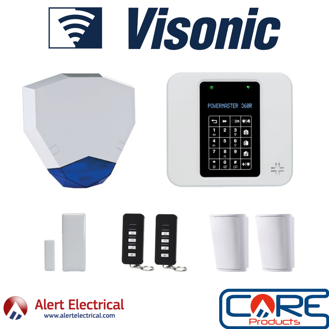A Wireless Alarm System with WiFi & Lan Connectivity. Visonic PowerMaster-360R Wireless Alarm System