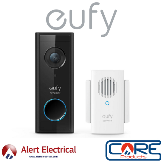 Eufy Battery-Powered Wi-Fi Video Doorbell 1080P & Wireless Chime for Just £100 Inc Vat