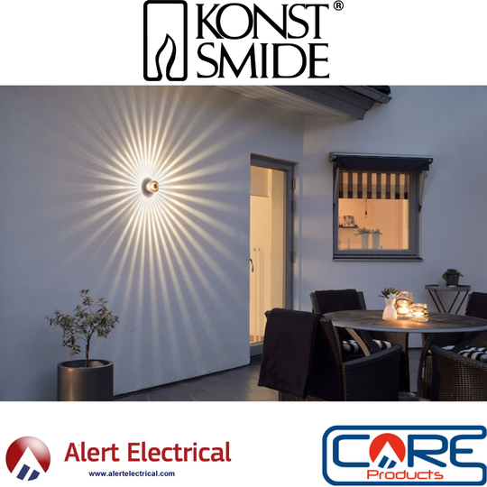 Give the outside of your home that modern look with the Konstsmide Monza LED wall light range