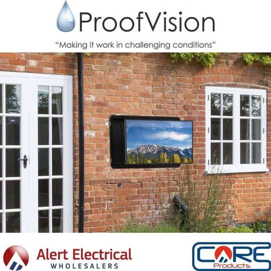 ProofVision TV Pod is a versatile and cost-effective way of using a regular TV outdoors