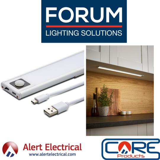 Easy to Install with no need for complex Wiring! Electralite Slim Rechargeable PIR Sensor Cabinet Lights