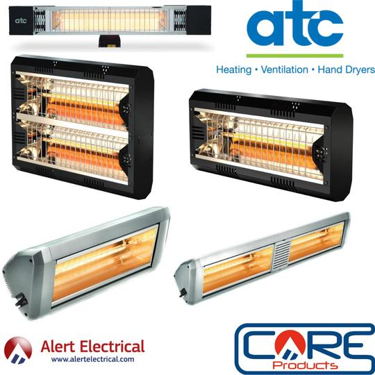 Enjoy your outdoor space this Summer with the ATC Patio heater range available at Alert Electrical