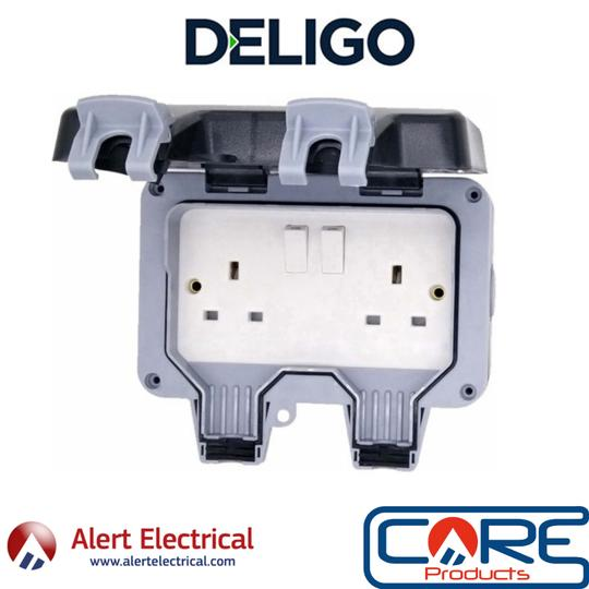 Save money this summer with the Deligo IP66 13A 2G DP Outdoor Switched Socket at £7.99 + Vat