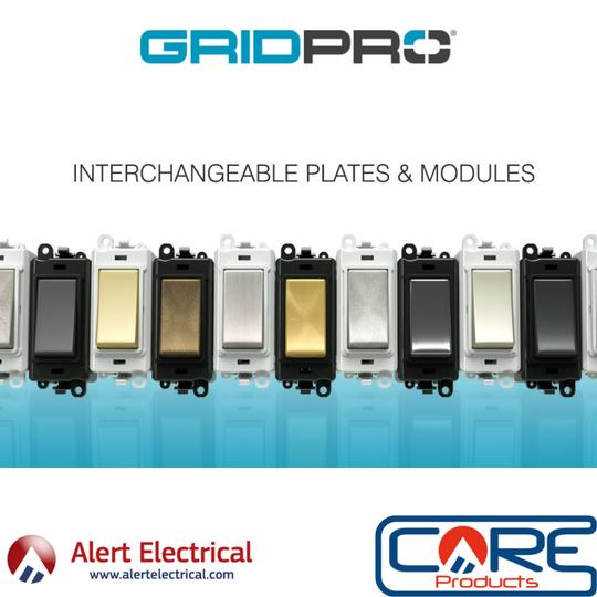 CLICK GridPro Frontplates and modules now in stock at Alert Electrical
