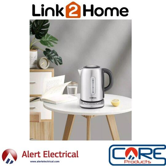 A Smart addition to any home or Workplace. Link2Home WiFi Smart Kettle with Voice Control