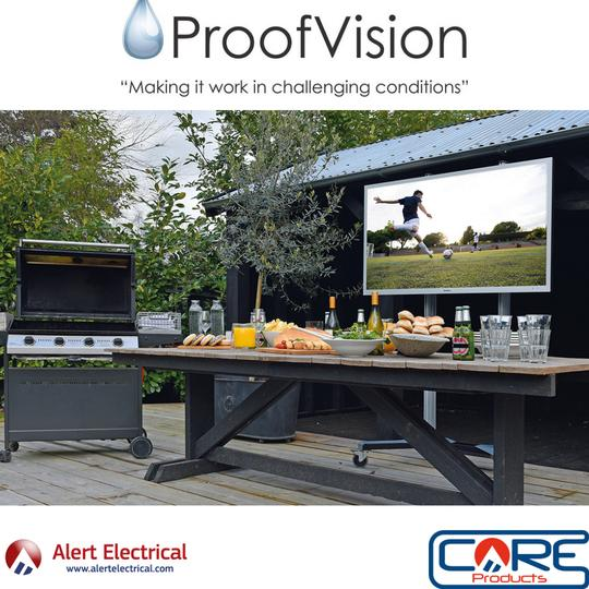 Bring the inside outside this summer with the Proofvision Aire Outdoor TV Range