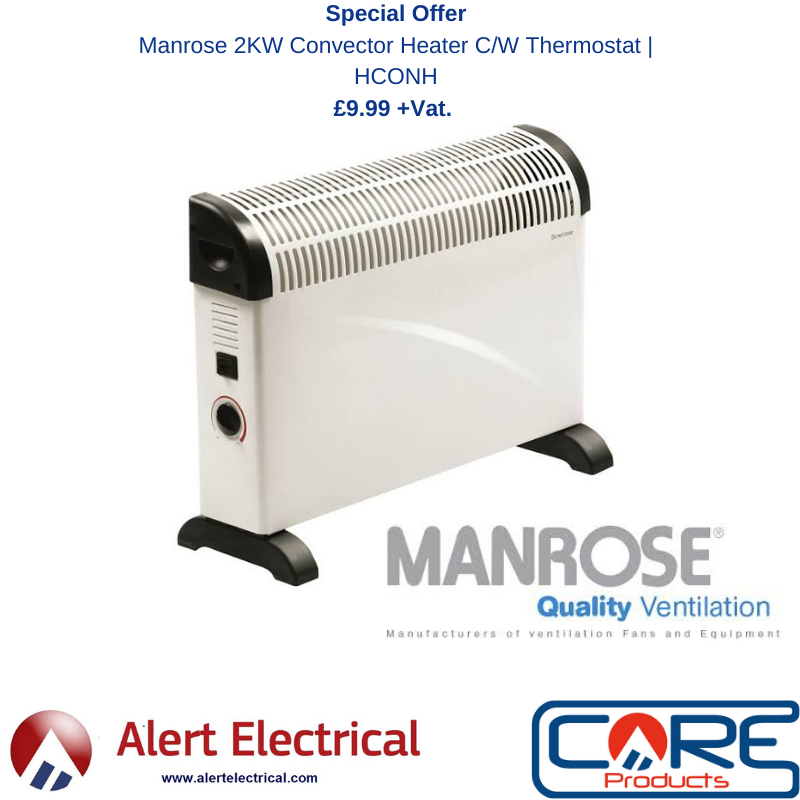 The Manrose 2KW Convector Heater with Thermostat is this week's special offer!