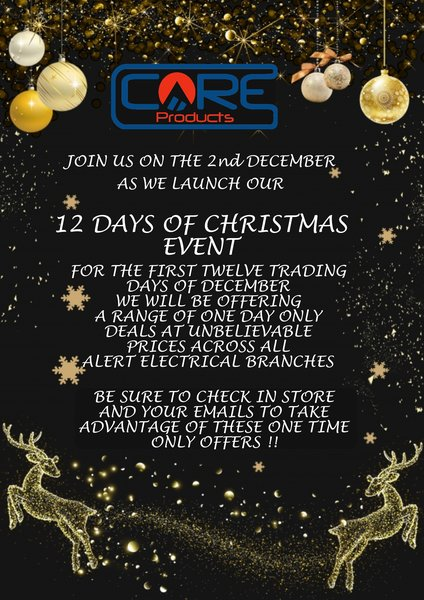12 Days of Christmas Event @ Alert Electrical Wholesalers