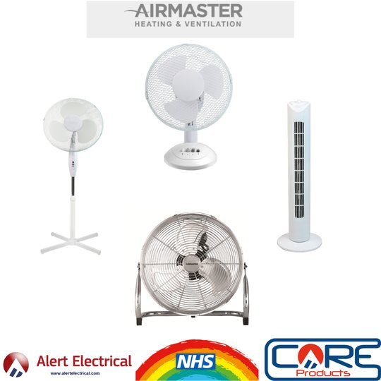 The Warm Weather is here! Check out our range of Desk & Pedestal fans from AirMaster