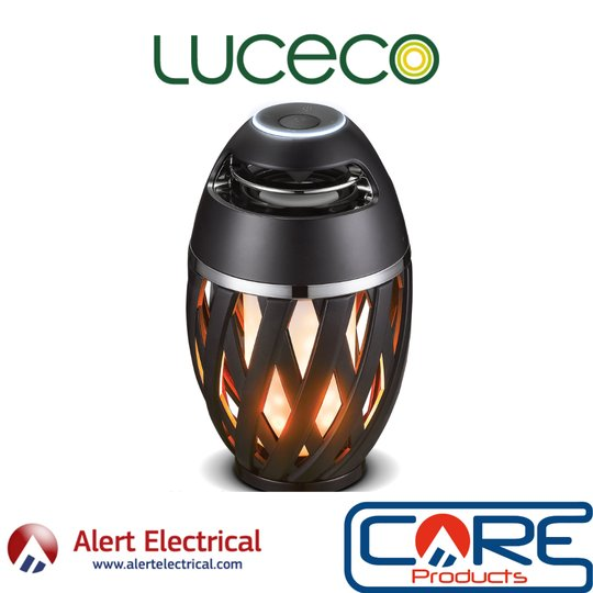 Realistic flame effect Light without the fire and smoke! Luceco Flame Effect USB LED Bluetooth Speaker Light