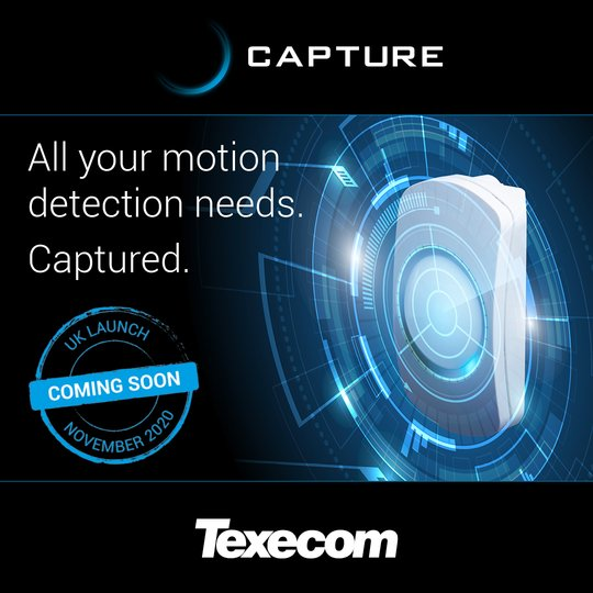 All your motion detection needs. Captured with the new Texecom Capture range.