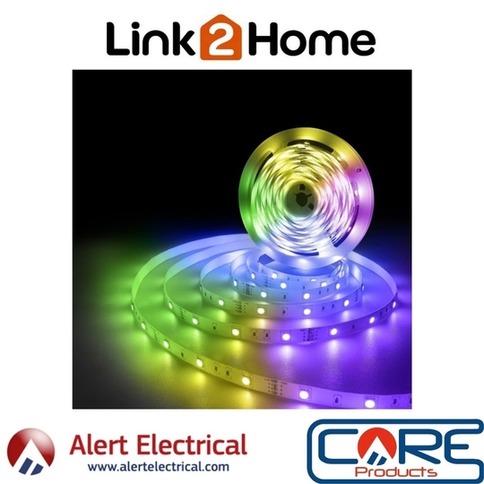 Hey Google! turn the living room green with the Link2Home WiFi & Bluetooth Smart 5M LED Strip Light