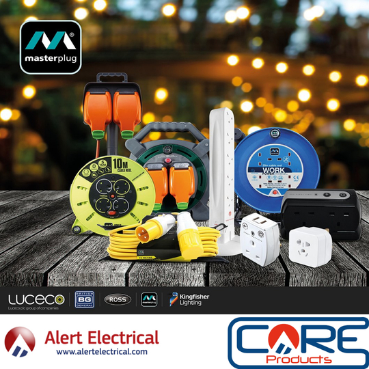 Masterplug Power Solutions for home, garden, DIY, office and commercial now at Alert Electrical.