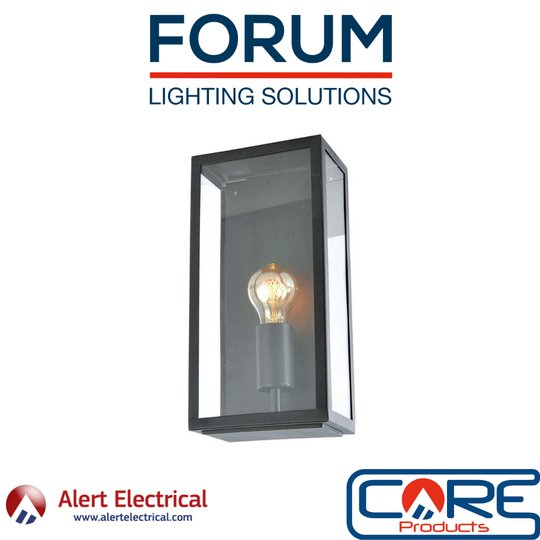 The Stylish & Modern Minerva Exterior Box Lantern from Forum Lighting