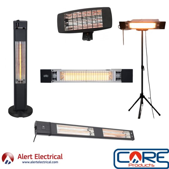 Enjoy your outdoor space this winter with a selection of Patio heaters available at Alert Electrical