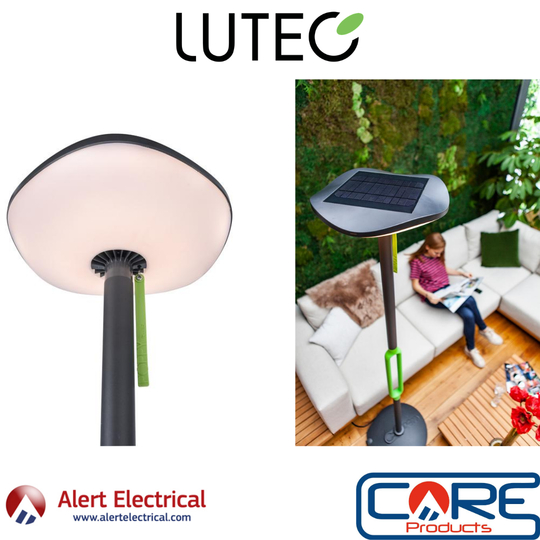 The Cost-effective light for any Garden. Lutec Poppy Solar LED Light Post & Bluetooth Speaker