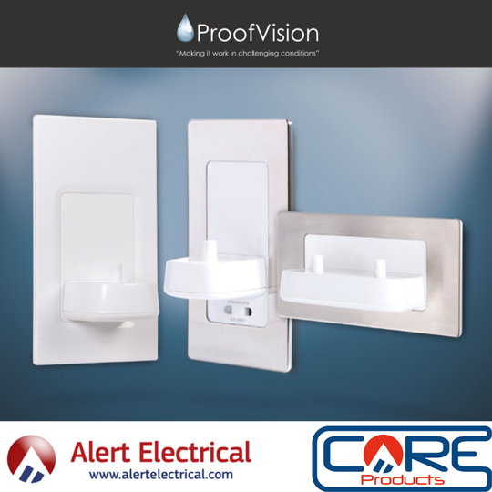 ProofVision Range of in Wall Electric Toothbrush Chargers now available from Alert Electrical