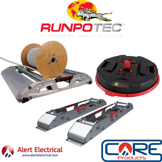 Cable Roller Systems from RUNPOTEC now available from Alert Electrical