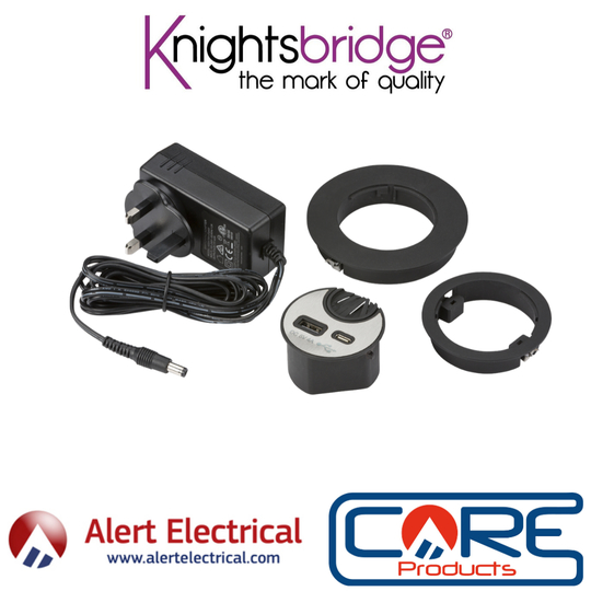 The Knightsbridge Desk Mount USB Charge point is the perfect addition to your home office.