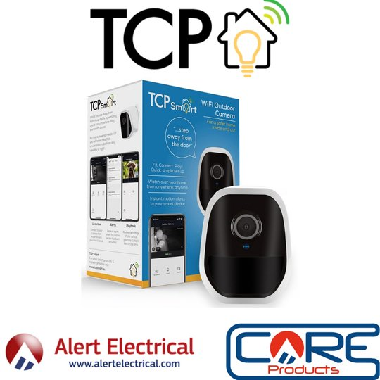 No mains power Required!  With the TCP Smart WiFi Outdoor Battery Camera, you can watch your home from anywhere, anytime
