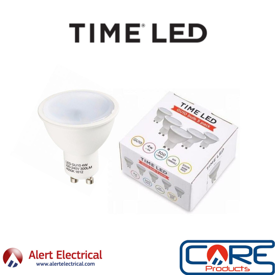 August Managers Special. TIME-LED 4W Warm White LED GU10 5 Pack