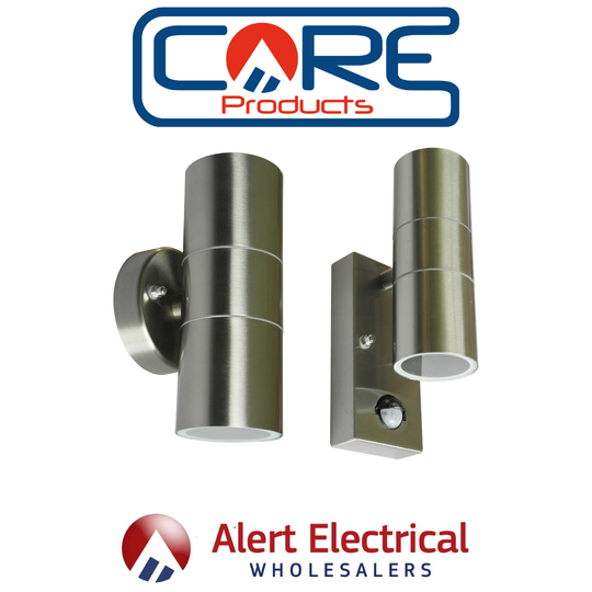 Core Lighting Stainless Steel Up and Down Wall Lights now back in stock !