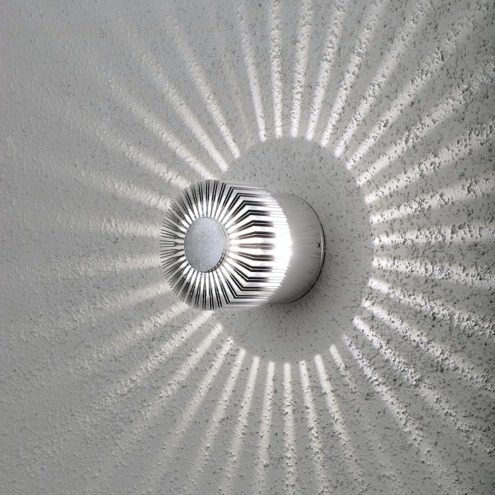 Konstsmide 7900-310 Monza 3w LED Wall Light IP54 Aluminium