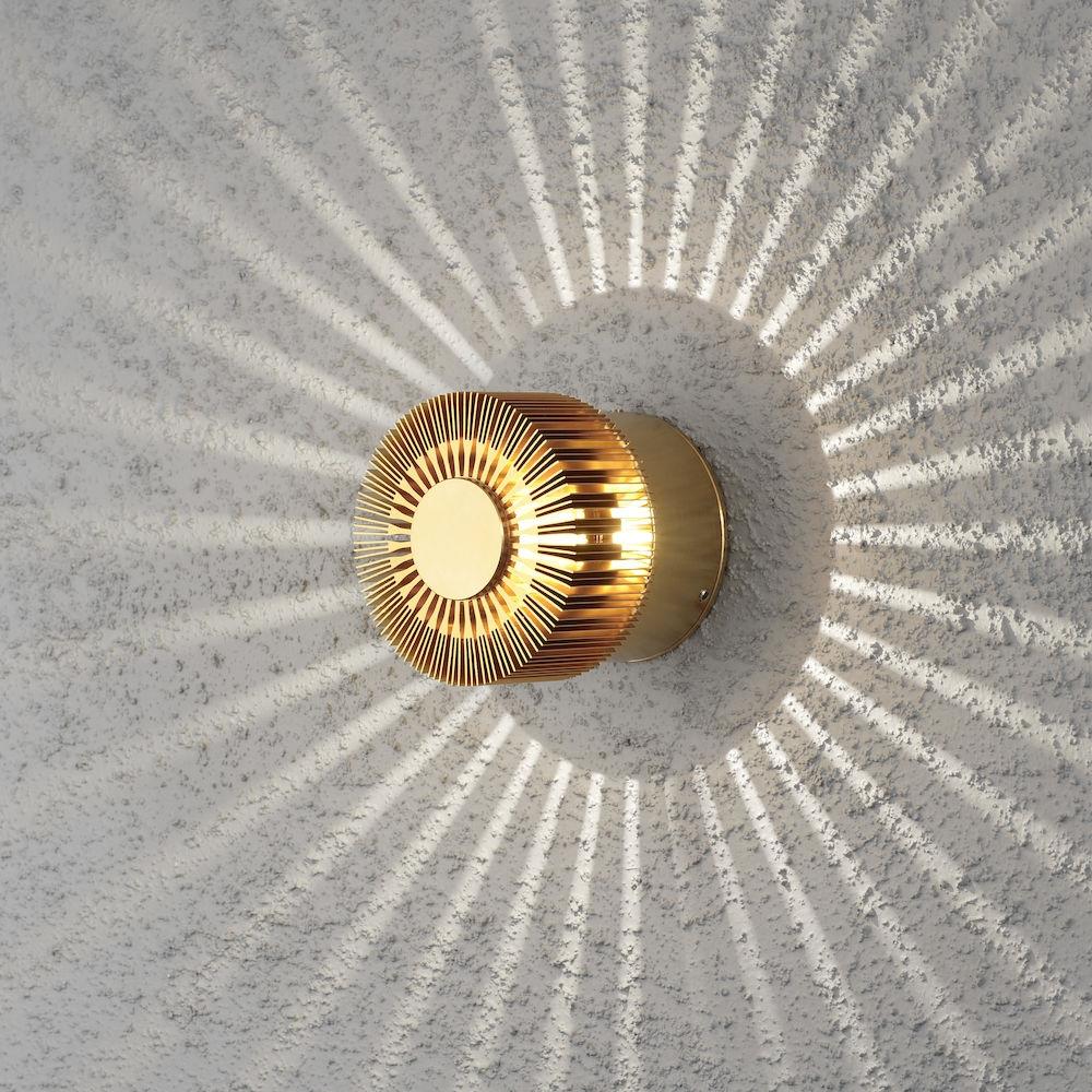 Konstsmide 7900-800 Monza 3w LED Wall Light IP54 Brass Colour