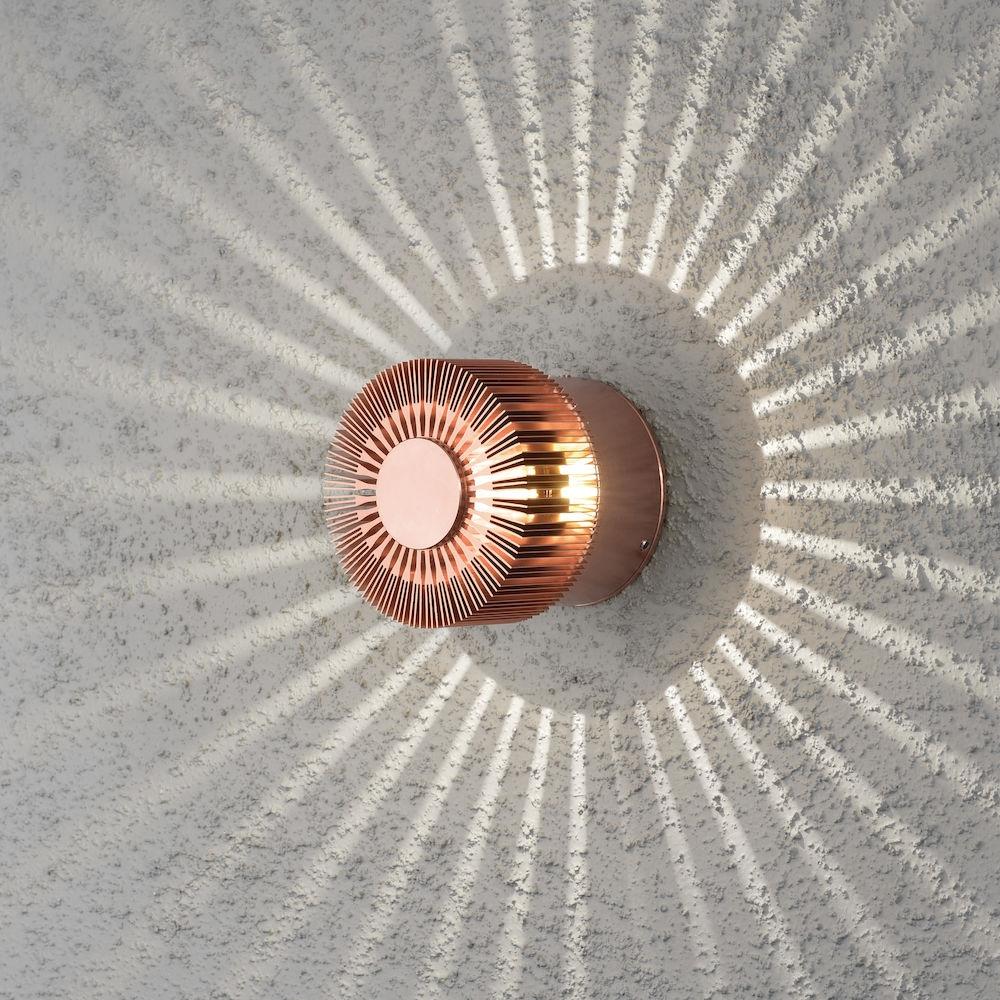 Konstsmide 7900-900 Monza 3w LED Wall Light IP54 Copper Colour