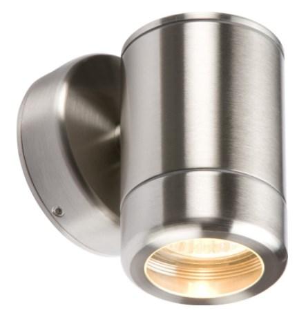 Knightsbridge IP65 Stainless Steel Fixed GU10 Down Wall Light WALL1L