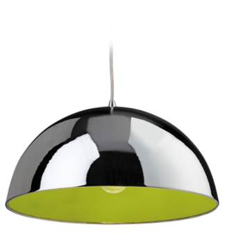 Bistro Pendant Chrome / Green