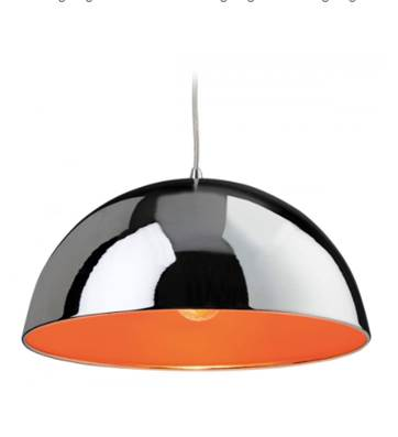 Bistro Pendant Chrome / Orange