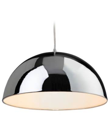 Bistro Pendant Chrome / White
