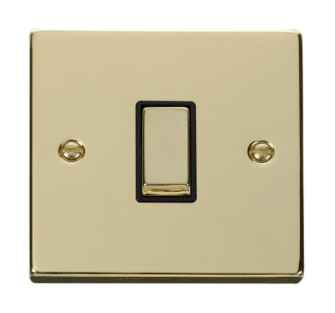 Click Deco Ingot Polished Brass Light Switch