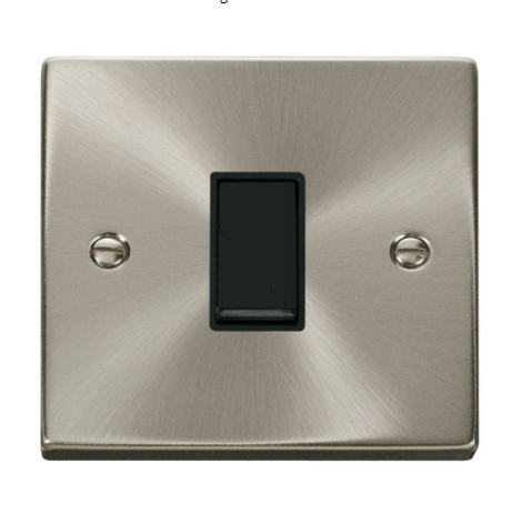 Click Deco Satin  Chrome Light Switch