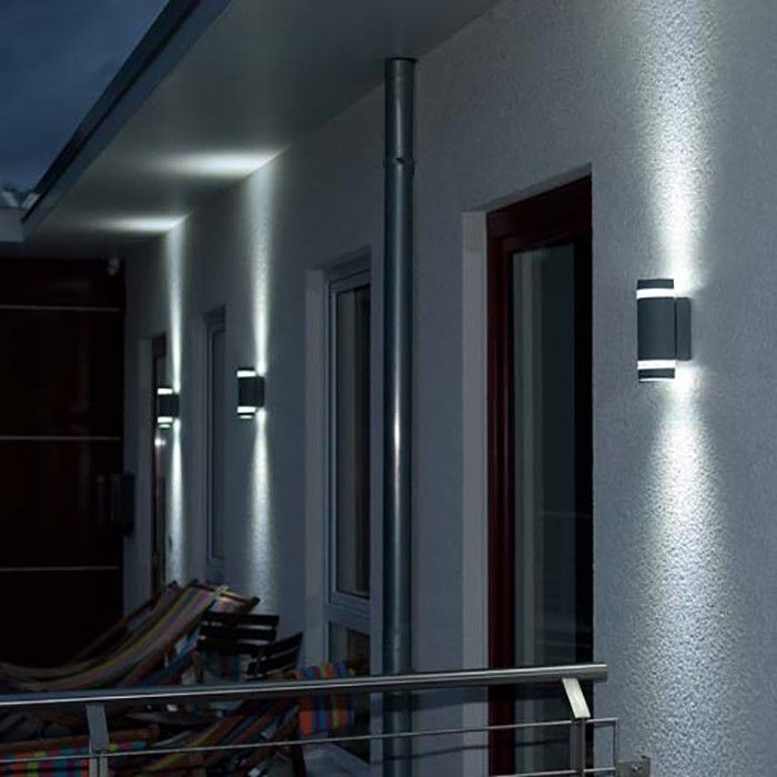 Lutec Focus Outdoor LED Up-Down Wall Light