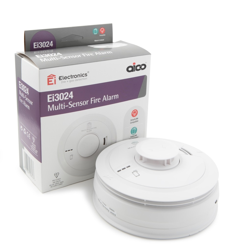 Multi Sensor Alarms for use in stairwells, landings, offices, bedrooms & lounges