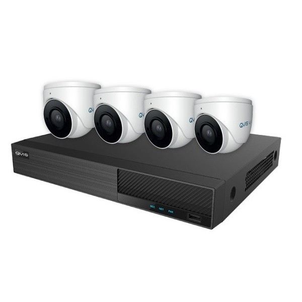 OYN-X Falcon 6MP 8 Channel 2TB IP CCTV Kit 4 x 6MP Turret Cameras White | FKIT-5MP8-4E