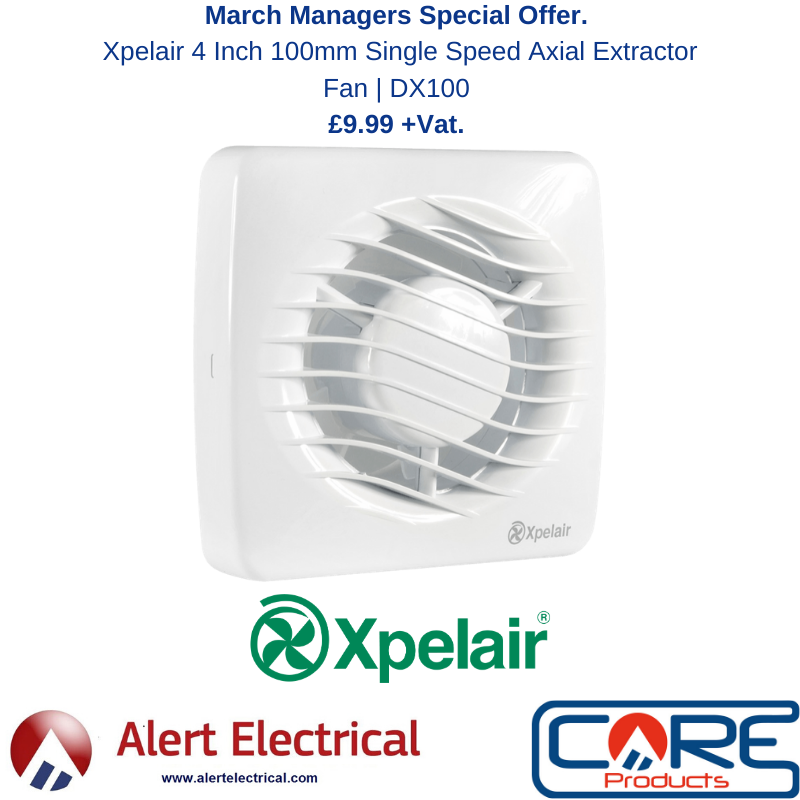 Managers Special March 2020. Xpelair 4 Inch Single Speed Extractor Fan for Just £9.99 + Vat